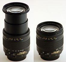 220px Nikkor 28 200 zoom لنز دوربین
