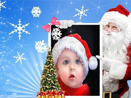 بابانوئل کودک با عکس بابانوئل