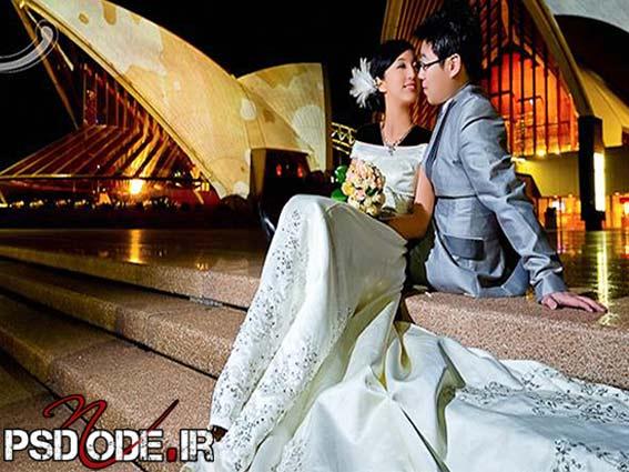عکس عروس و داماد درفضای باز ww.psdmode.ir