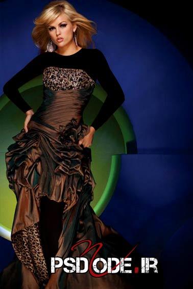 لباس قهوه ای مجلسی www.psdmode.ir