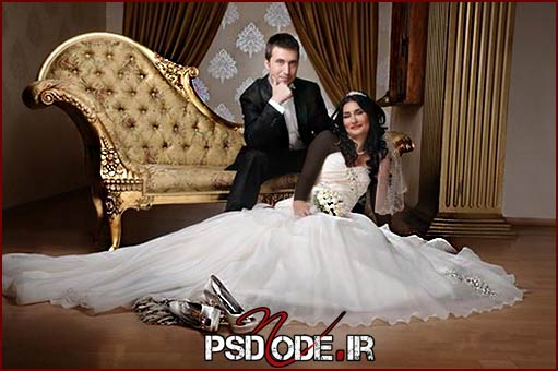 ژست های عاشقانه عروس و داماد در آتلیه عکاسی