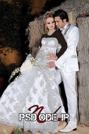 عکس عروس داماد ژست