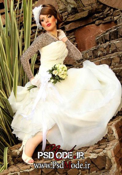عکس عروس در باغ فیگور عروس