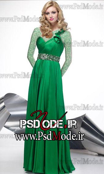 لباس-مجلسی-سبز-رنگ www.psdmode.ir