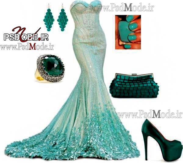 لباس-زیبا-و-جدید-ست-سبز-رنگ
