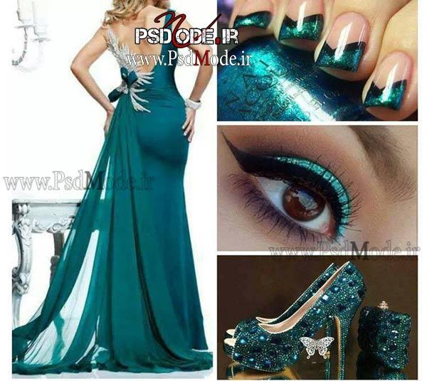 لباس-شب-سبز-زیبا