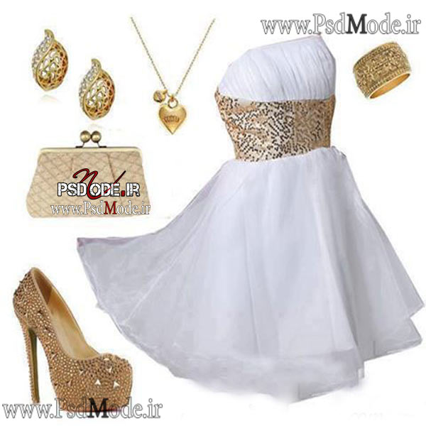 لباس-سفید-شیک-مجلسی