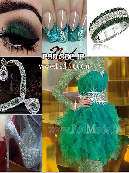 لباس-مجلسی-سبز