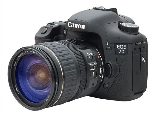 canon eos 7d side view انواع دوربین ها