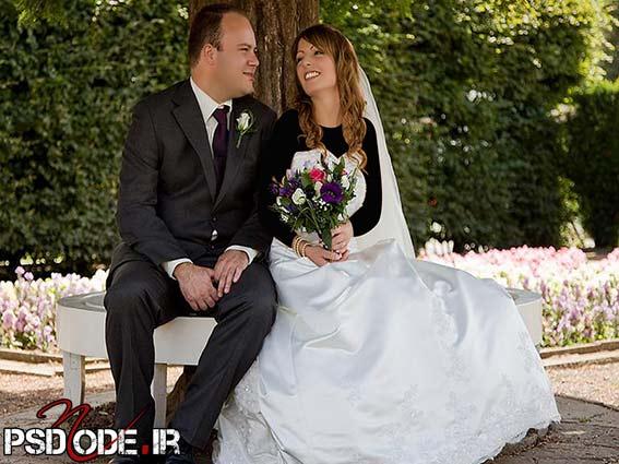 ژست عروس و داماد در باغwww.psdmode.ir