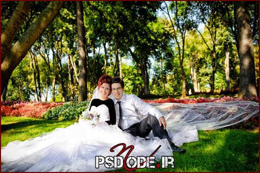 عکس-عروس-و-داماد-در-باغ www.psdmode.ir