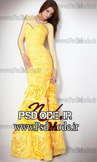 لباس-زرد-مجلسی www.psdmode.ir