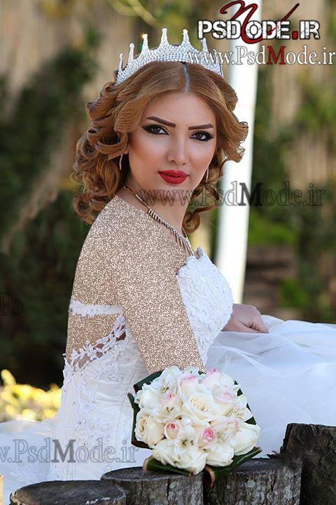 عکس-عروس-در-باغ-آتلیه